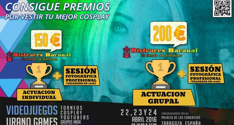 Premios del concurso de Cosplay en Urano Games