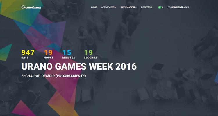 Pagina principal de Urano Games