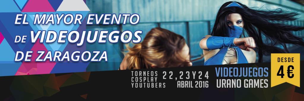 Banner Twitter de Pagina Web Urano Games Week Zaragoza