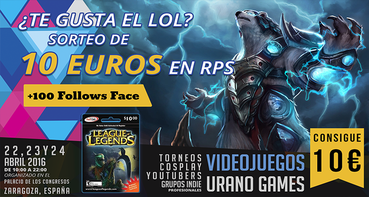 Sorteo Facebook de League of Legends