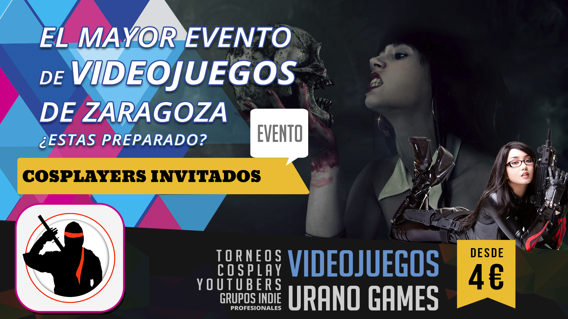 Cosplayer Concurso y Videojuegos Zaragoza | Urano Games