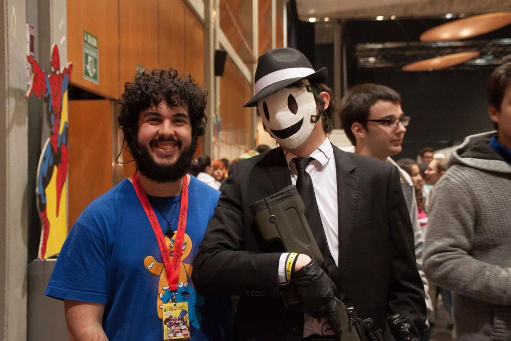 Jose Antonio con Cosplayer en Zaragoza en el Salon del Comic