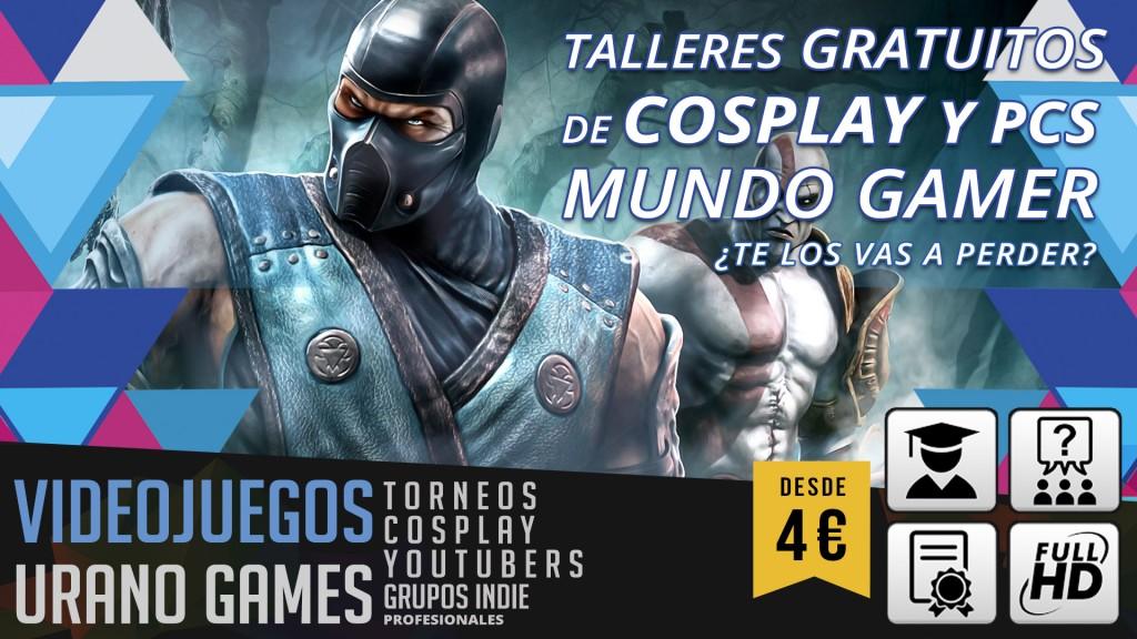 Talleres Gratis de Cosplay y Videojuegos en Urano Games Week