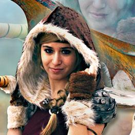 Astrid como Judit en Urano Games Videojuegos