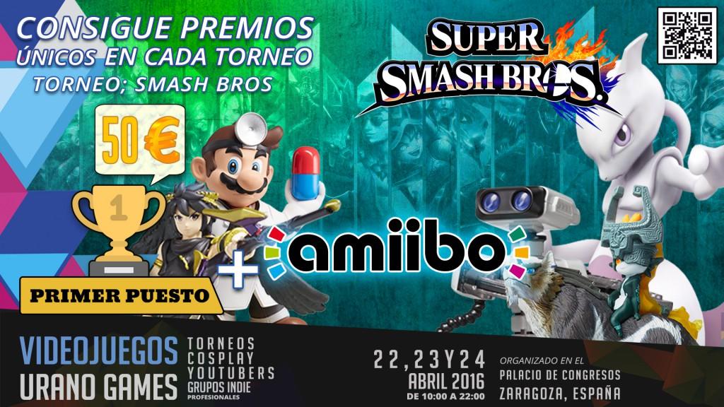Premios Torneos Smash Bros Comando 3DS Urano Games