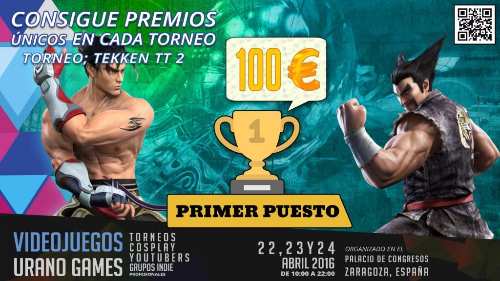 Premios Torneo Tekken Tag Tournament 2 Comando 3DS Urano Games