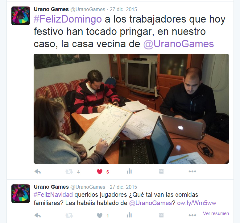 Twitter Urano Games Comienzo y Principios Seguidores Twitter