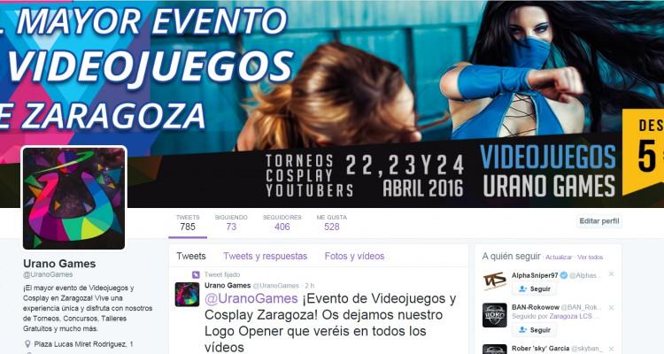 Twitter Urano Games Week Febrero
