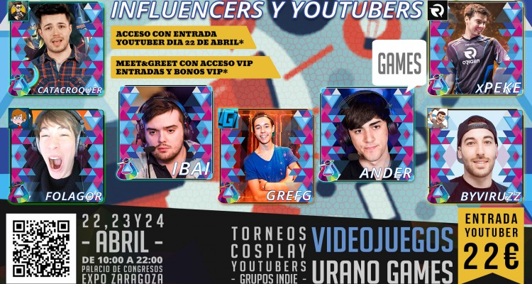 Wallpaper Influencers y Youtubers que acudirán a Urano Games