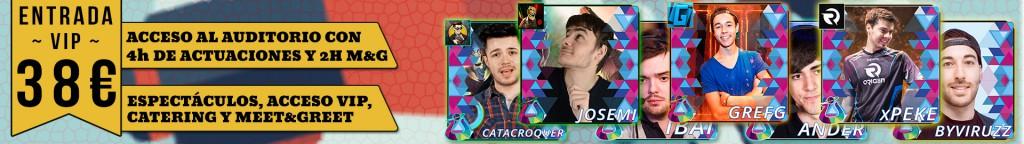 Banner entrada VIP Influencers y Youtubers Zaragoza Trailer Evento Videojuegos