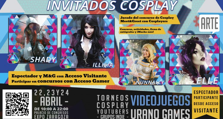 Invitados Cosplay Wallpaper como Jurado Concurso en Urano Games