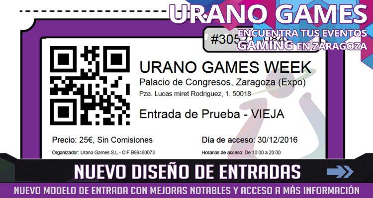 Nuevo Modelo de entradas Urano Games