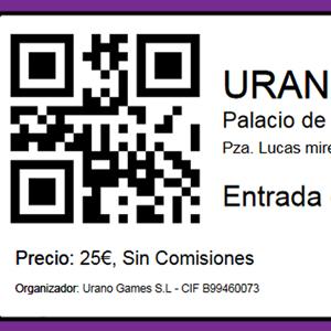 Informacion Entradas, ampliación ventas y más (BLOG) | Urano Games