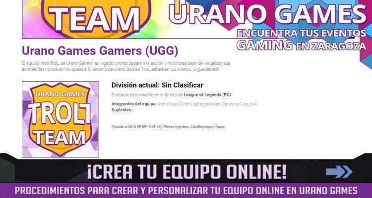 Procedimientos Crear Equipo Videojuegos Urano Games