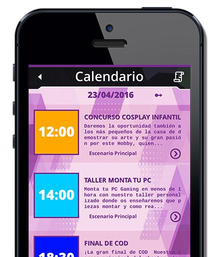Ejemplo Calendario APP Móvil Urano Games