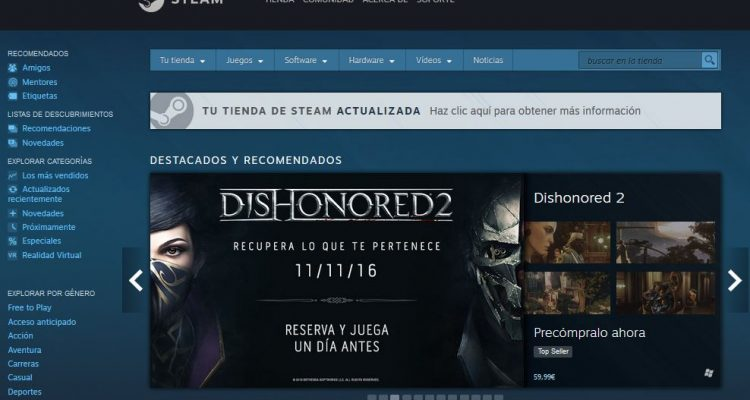 Actualización Steam Discovery Update 2.0. Urano Games