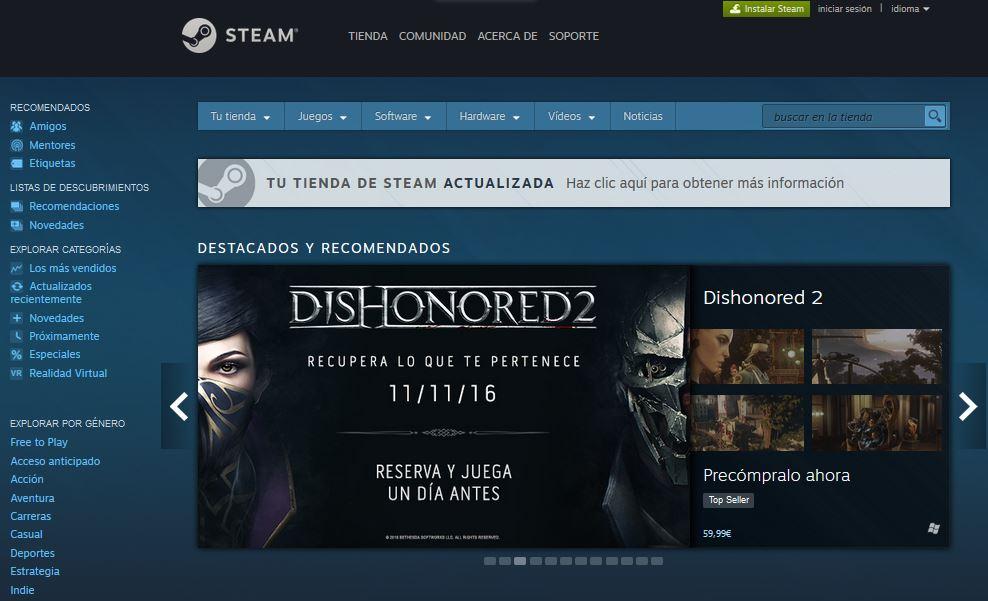 Actualización Steam Discovery Update 2.0