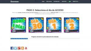 Paso 2 personalización entradas Urano Games (Nuevo Entradas)