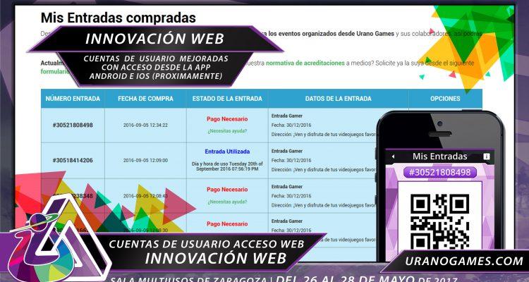 Innovacion UGW17 Cuentas de usuario y APP Urano Games
