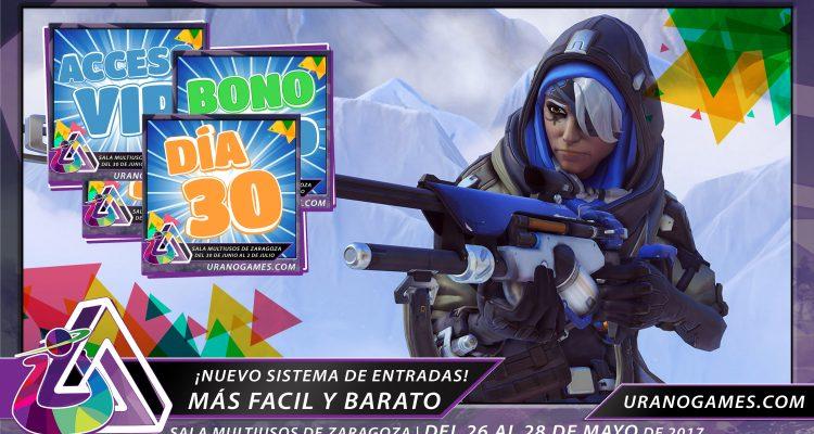 Nuevo sistema de entradas imagen de portada Urano Games