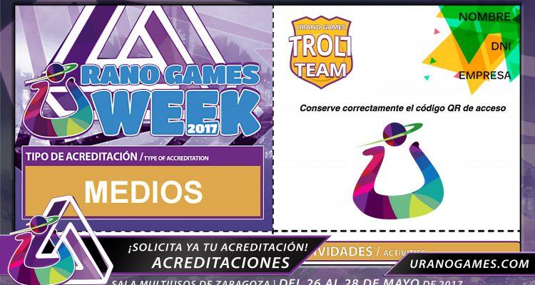 Acreditaciones UGW17 Evento videojuegos y medios.