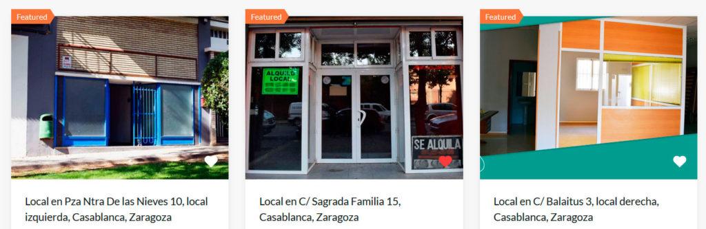 Alquiler Local comercial y oficinas en Locales Zaragoza.